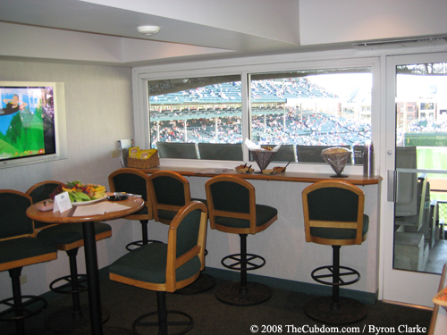 Interior of a Wrigley Field Luxury Box