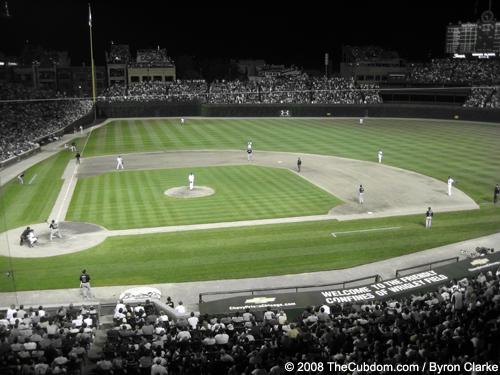 Wrigley Field with Green Highlights