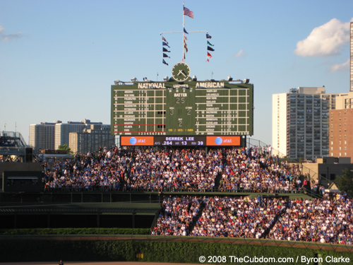 Wrigley Field Scoreboard