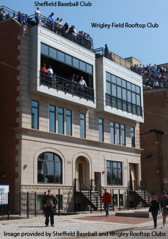 The Wrigley Field Baseball Club and the Sheffield Baseball Club