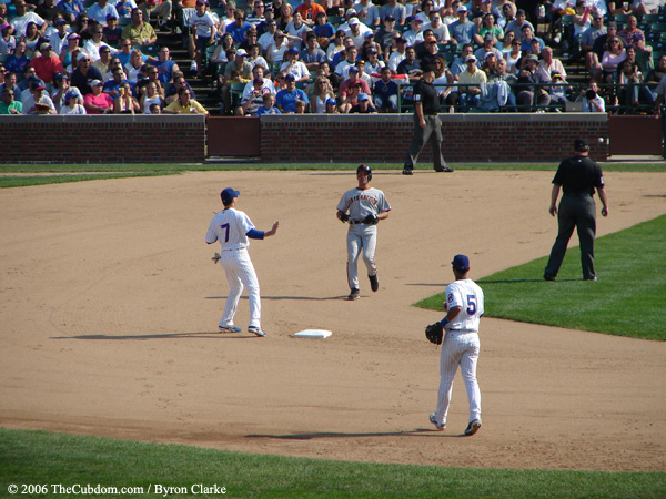 Omar Vizquel, Ryan Theriot, and Ronny Cedeno