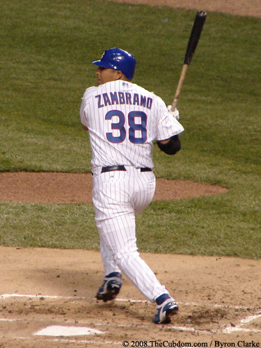 Carlos Zambrano at bat