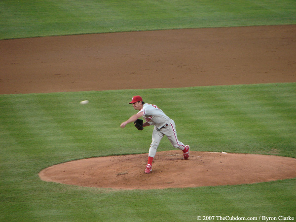 Jamie Moyer releases a pitch