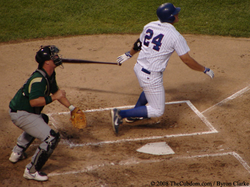 Rebel Ridling hits a home run.