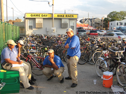 Bike check attendants