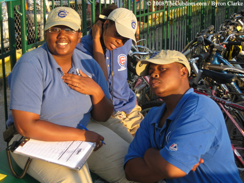 Bike check attendants