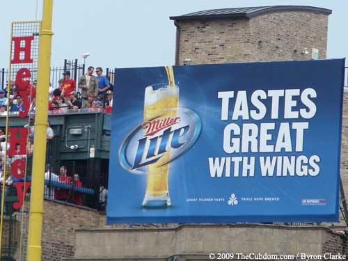 Miller Lite Billboard - Tastes Great with Wings