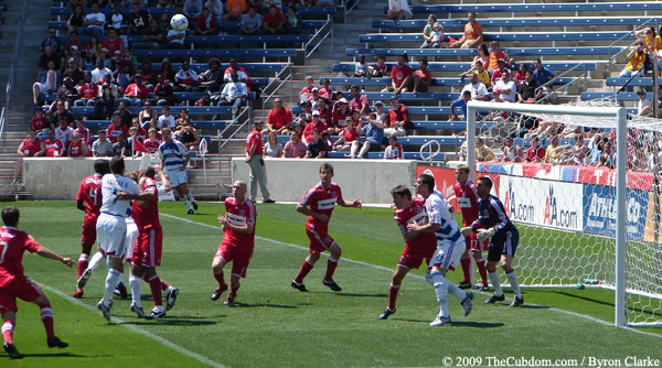 FC Dallas cornerkick