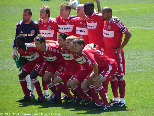 Chicago Fire starting eleven
